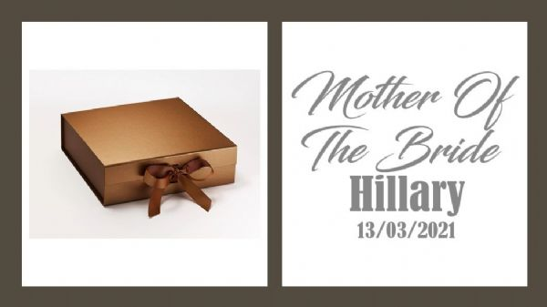 Mother Of The Bride Large Luxury Personalised Gift Box